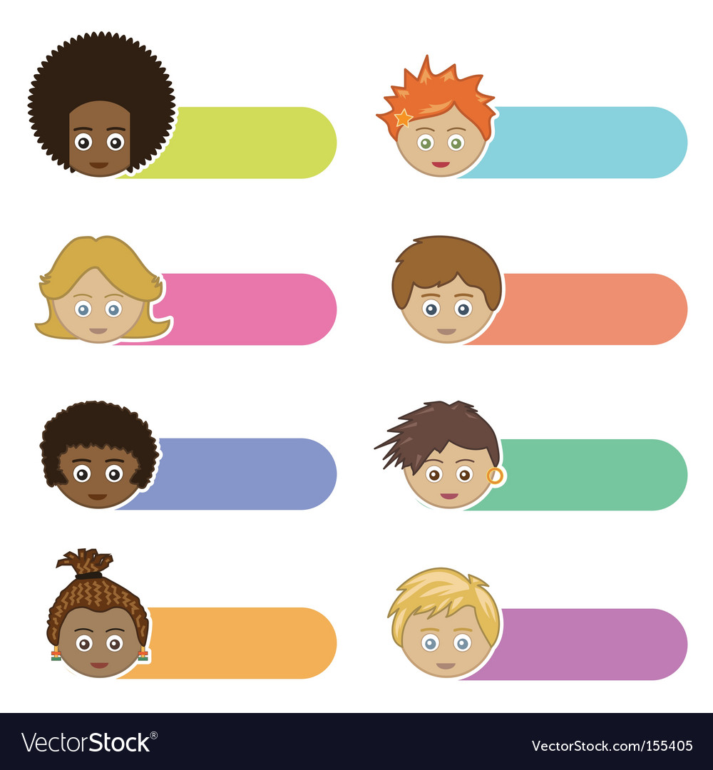 Kids tabs vector