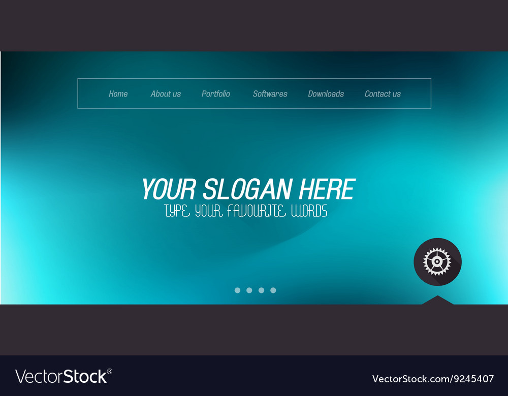 Minimal website home page design with slider vector