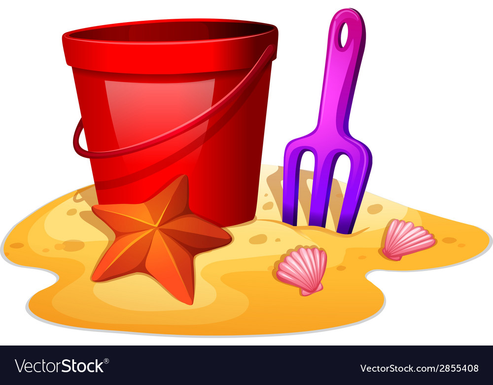 Things needed to form a sand castle vector