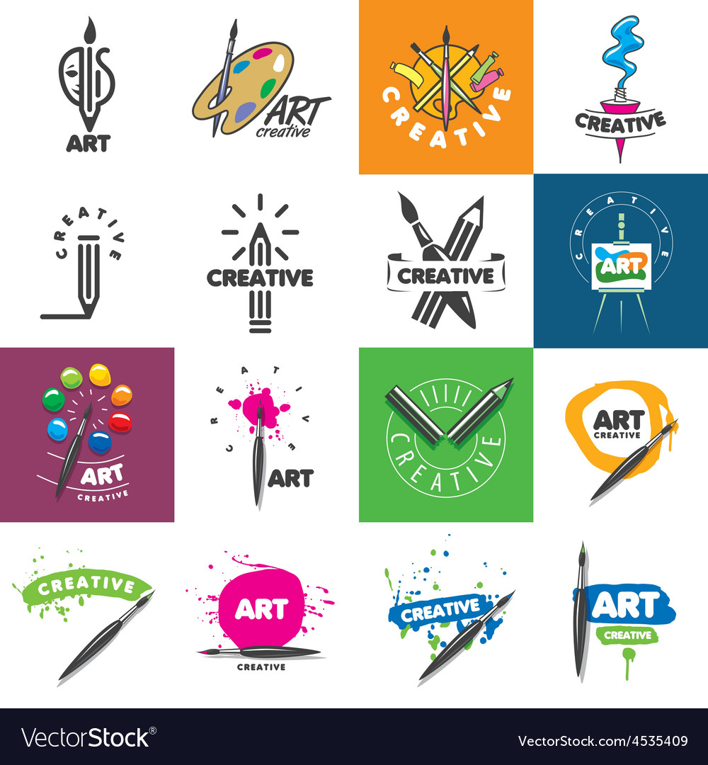 Biggest collection of logo design creativity and vector