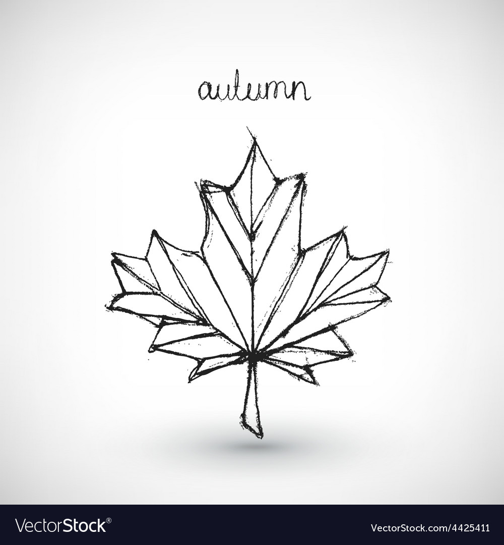 Abstract hand drawn autumn vector
