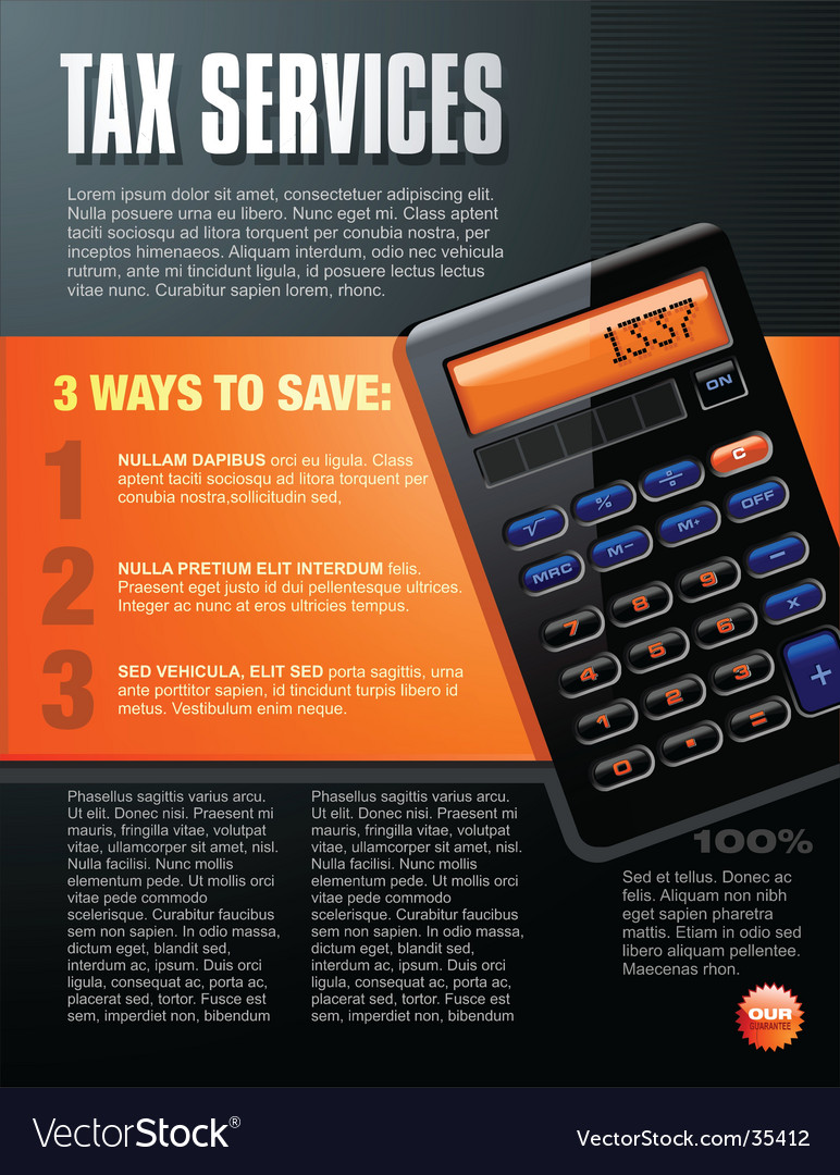 Calculator brochure design vector