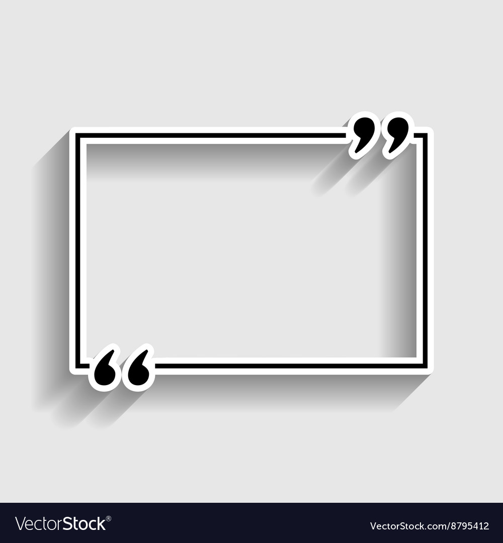 Text quote sign vector