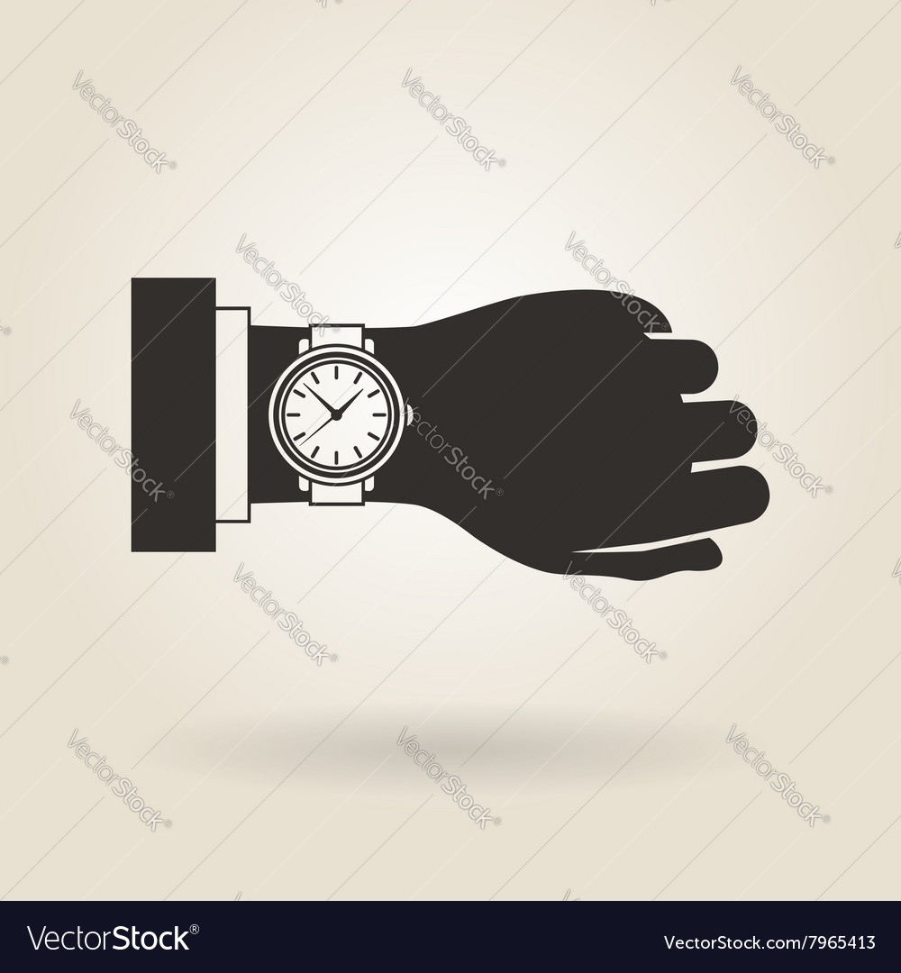 Hand wristwatch vector