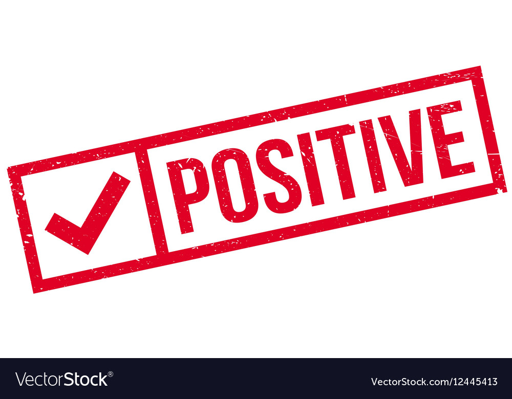 Positive rubber stamp vector