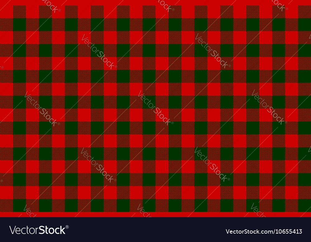 Red green check seamless background vector