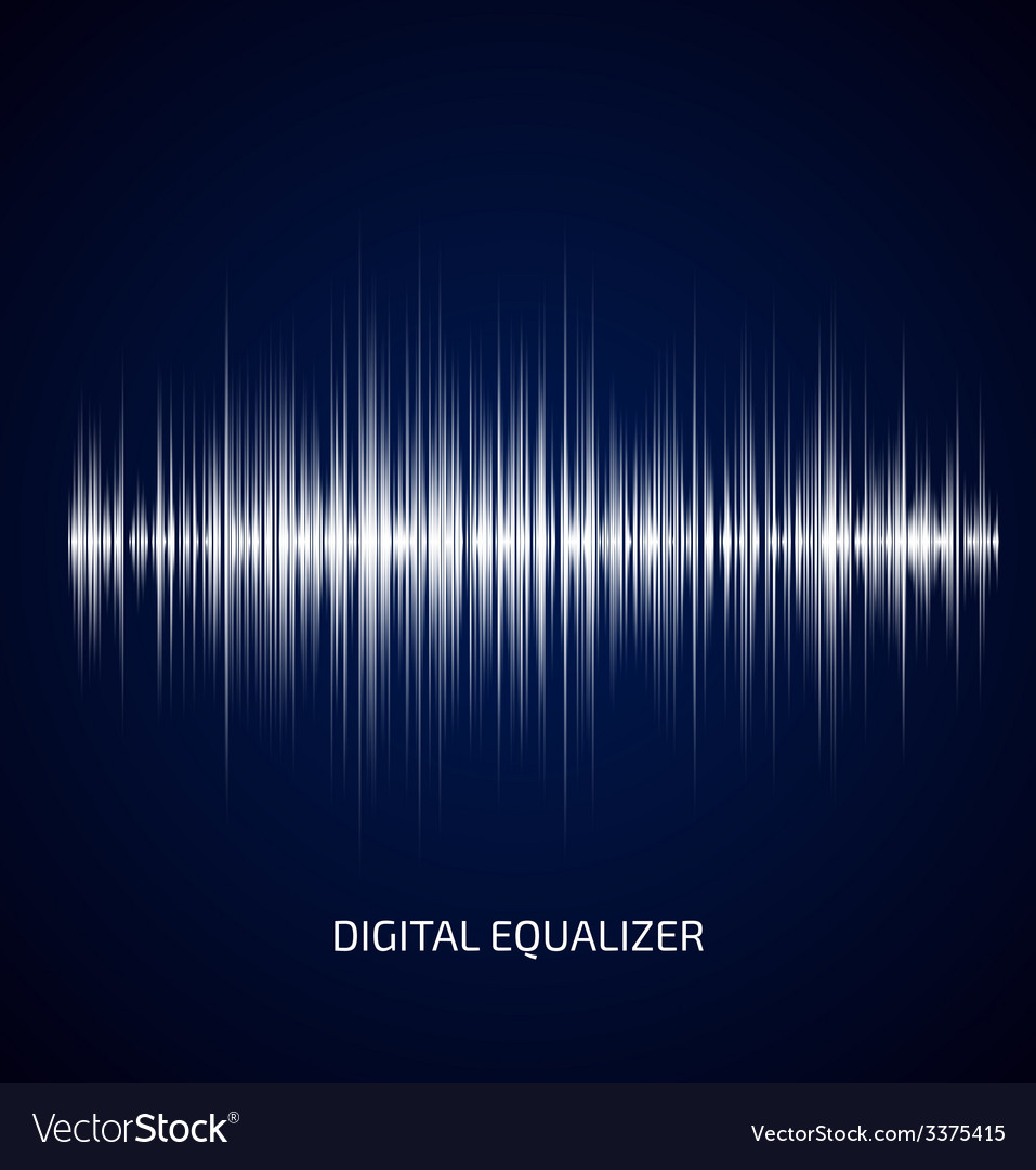 Abstract white music equalizer vector