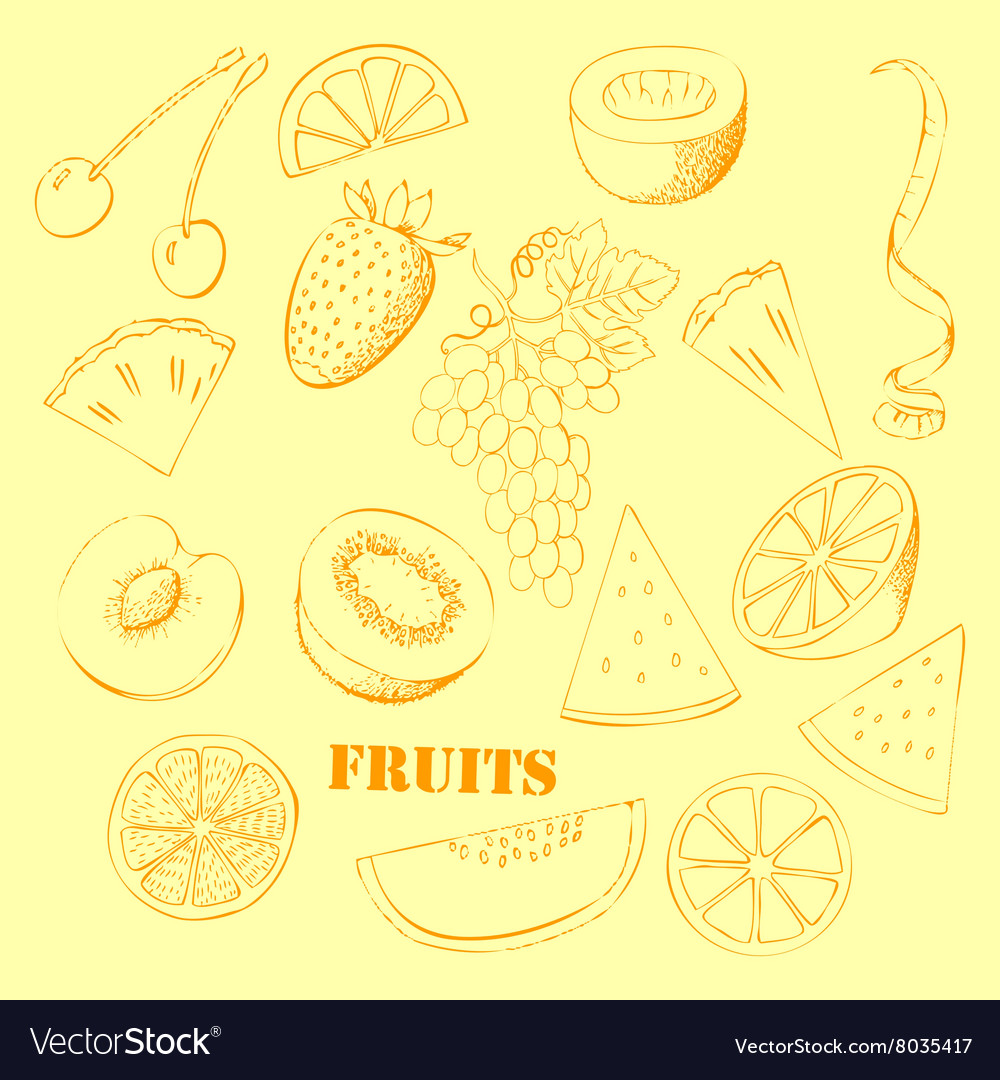 Background with fruit07 vector
