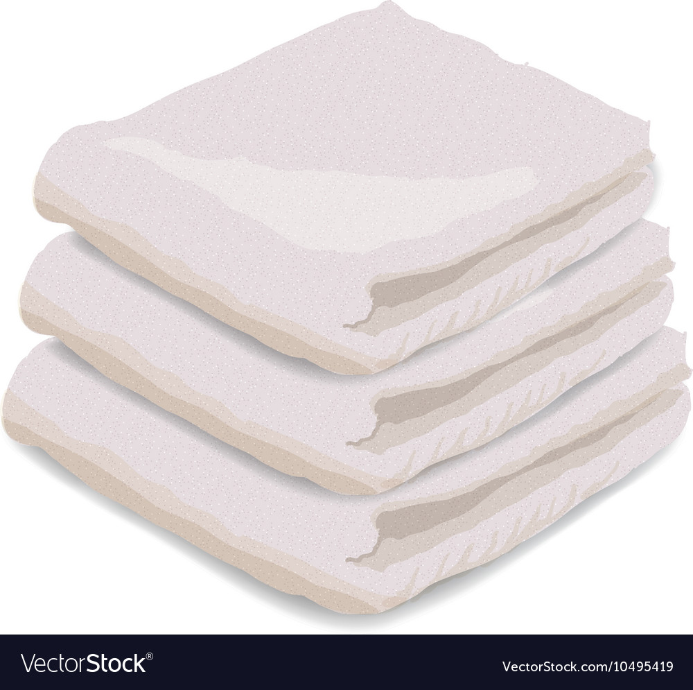 Towel isolated on white vector
