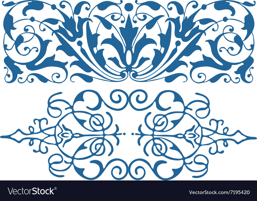 Vintage retro ornament vector