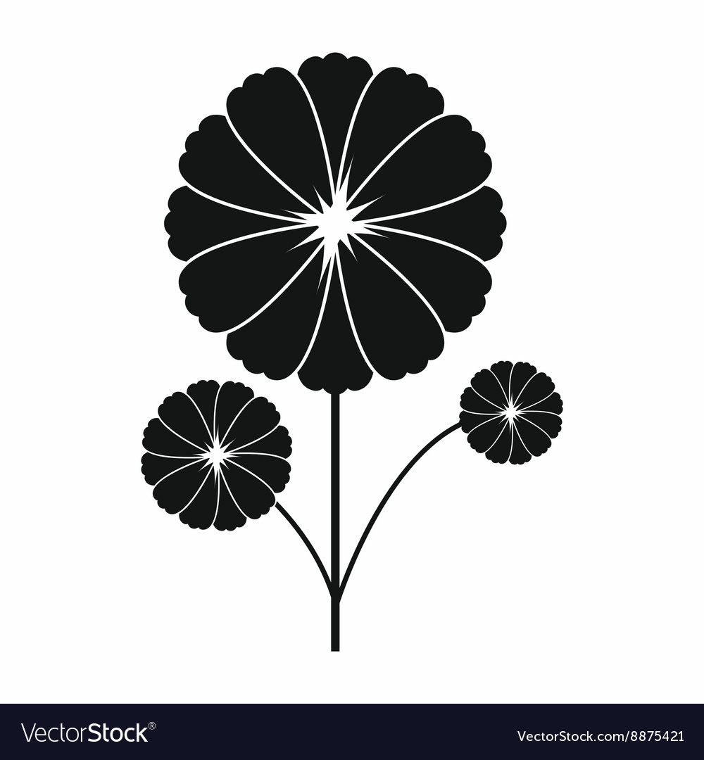 Flower icon in simple style vector