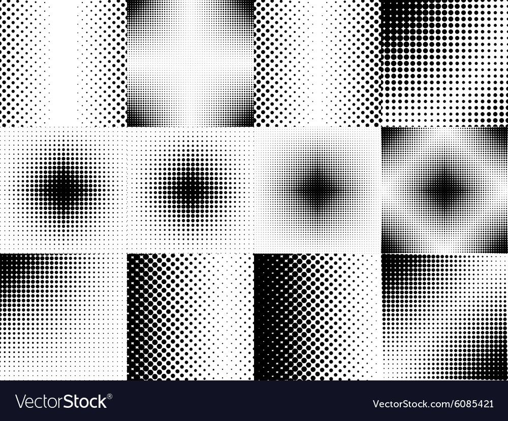 Halftone background set vector