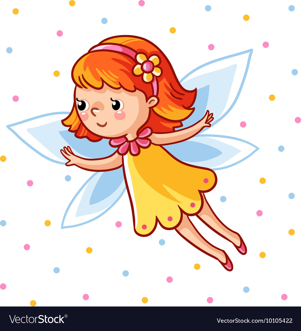 Girl made in cartoon style vector