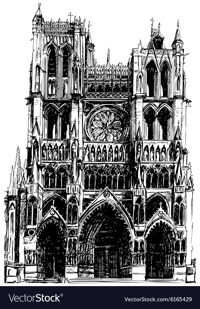 Gothic cathedral vector