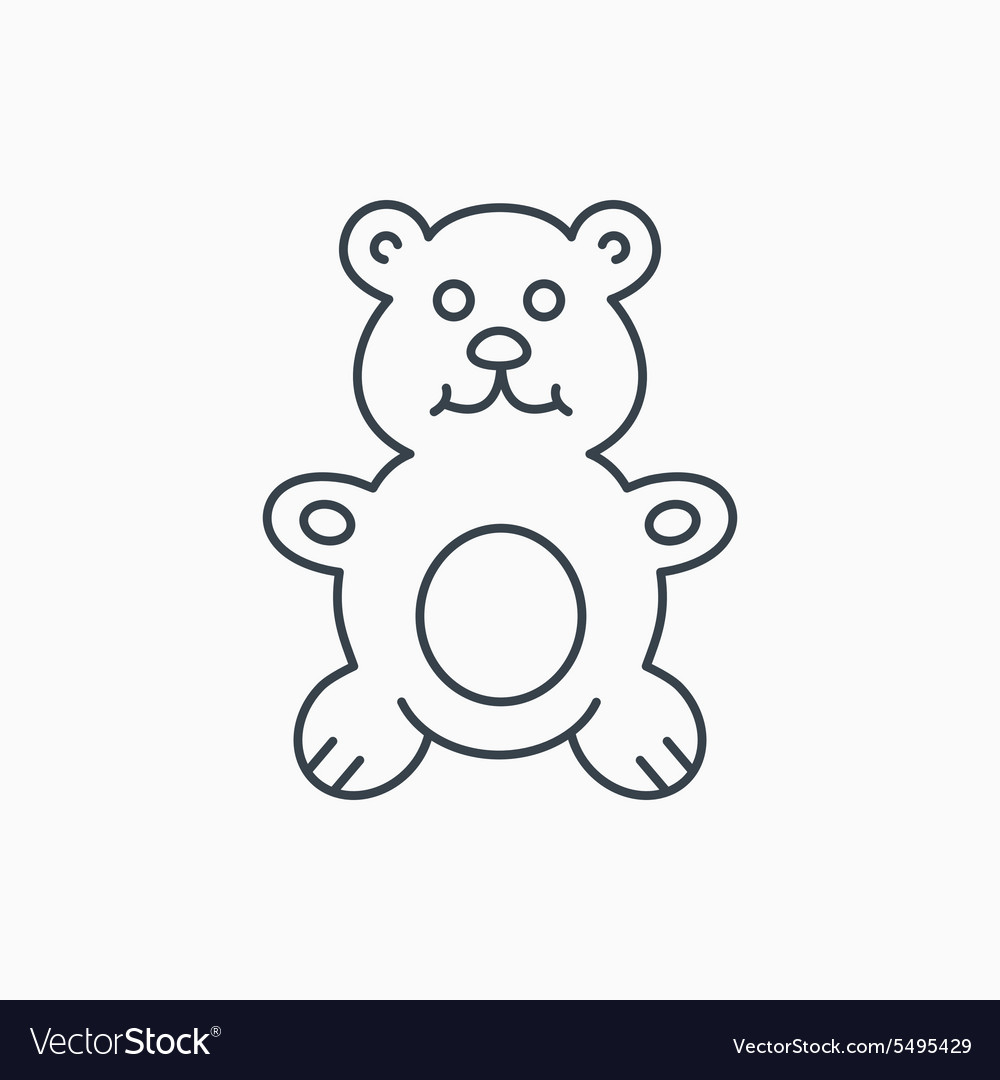 Teddybear icon baby toy sign vector