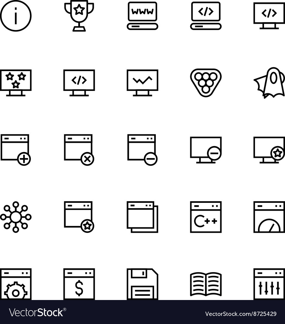 User interface colored line icons 31 vector