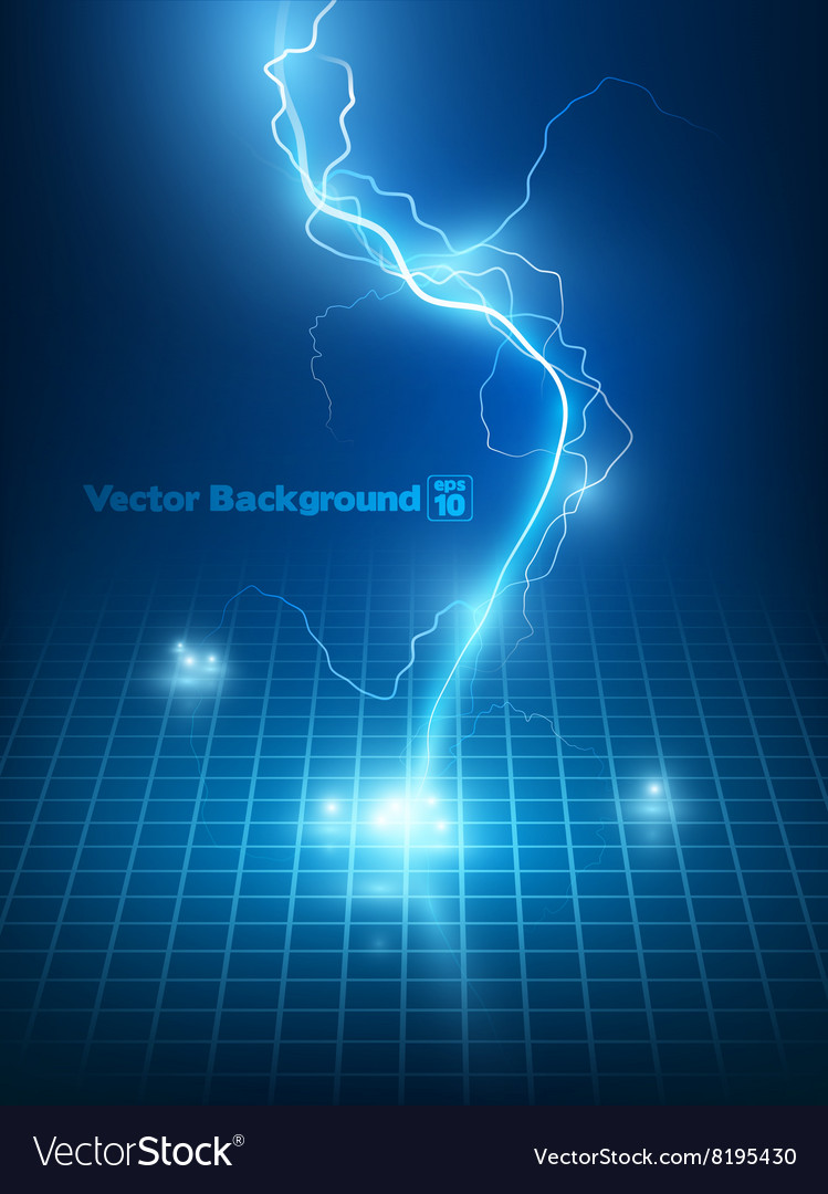 Blue lightning flash vector