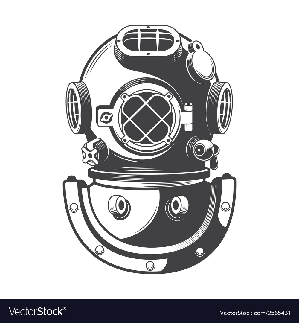 Diving helmet vector