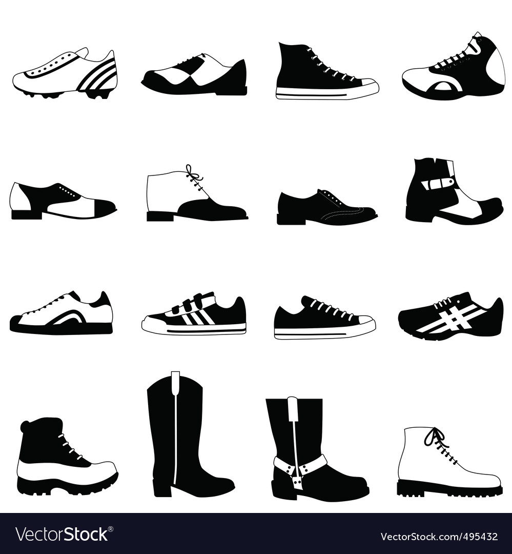 Mans shoes vector