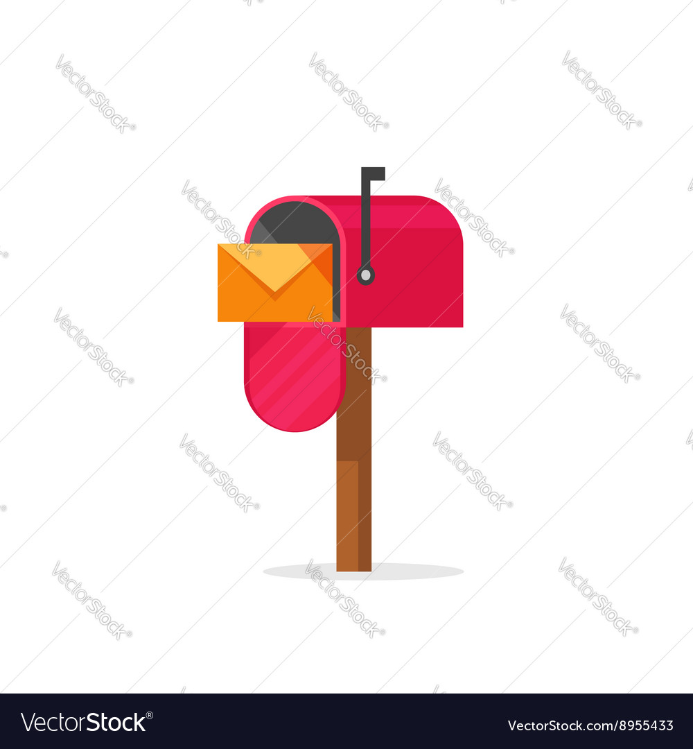 Mailbox isolated post office vector