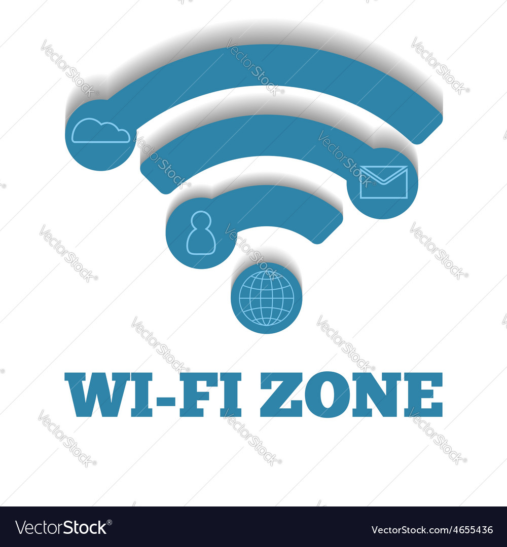 Icon wifi zone free wifi vector
