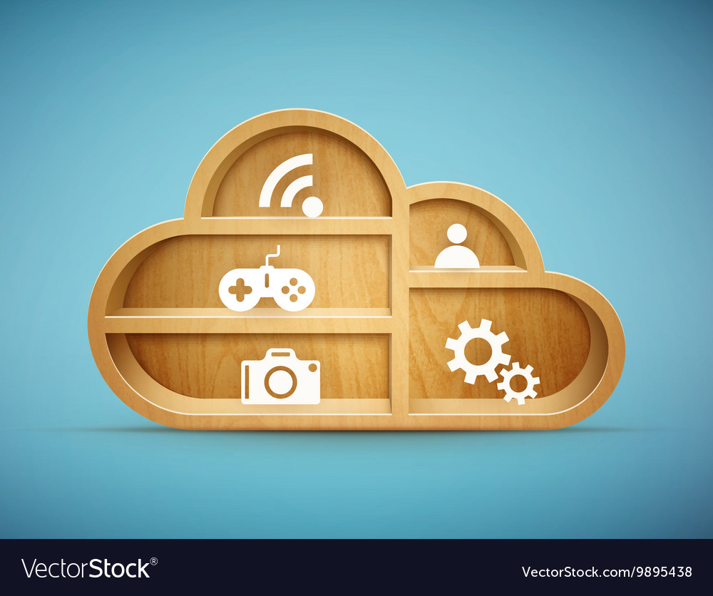 Cloud shelf vector