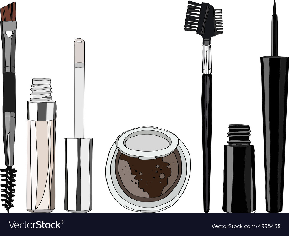 Set of makeup for the eyes vector