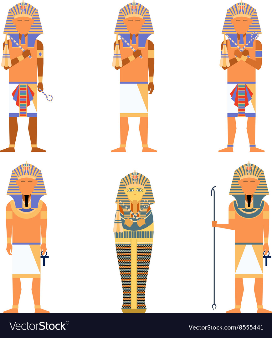 Set of pharaons vector