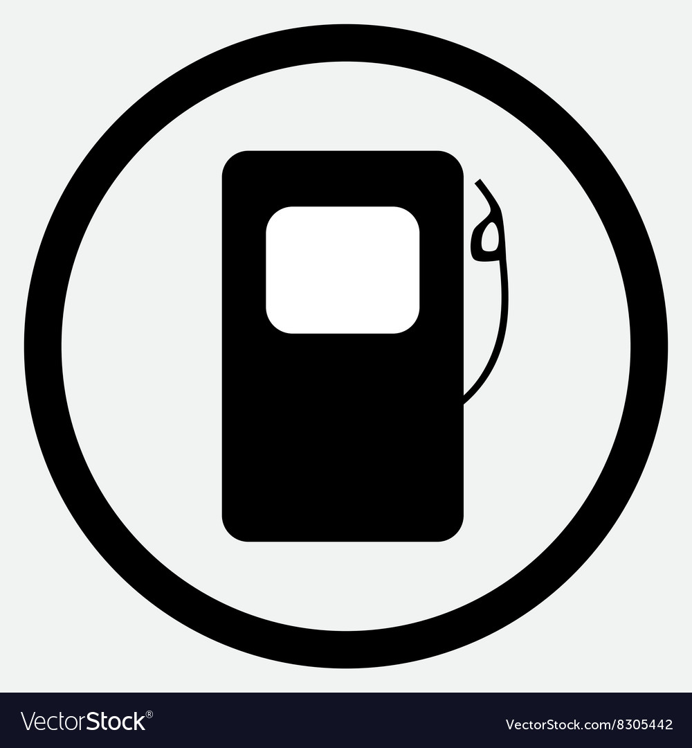 Fuel station icon black white vector