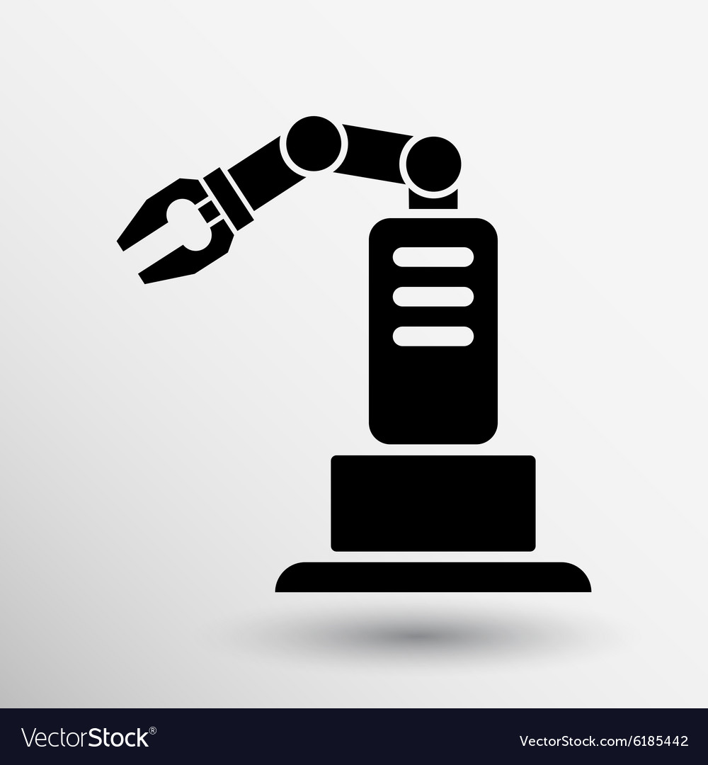 Robotic production icon button logo symbol concept vector