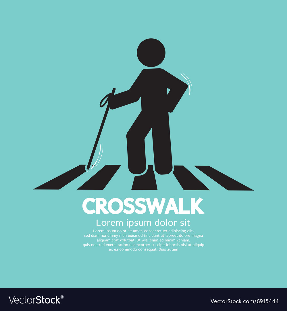 Blind on the crosswalk symbol vector