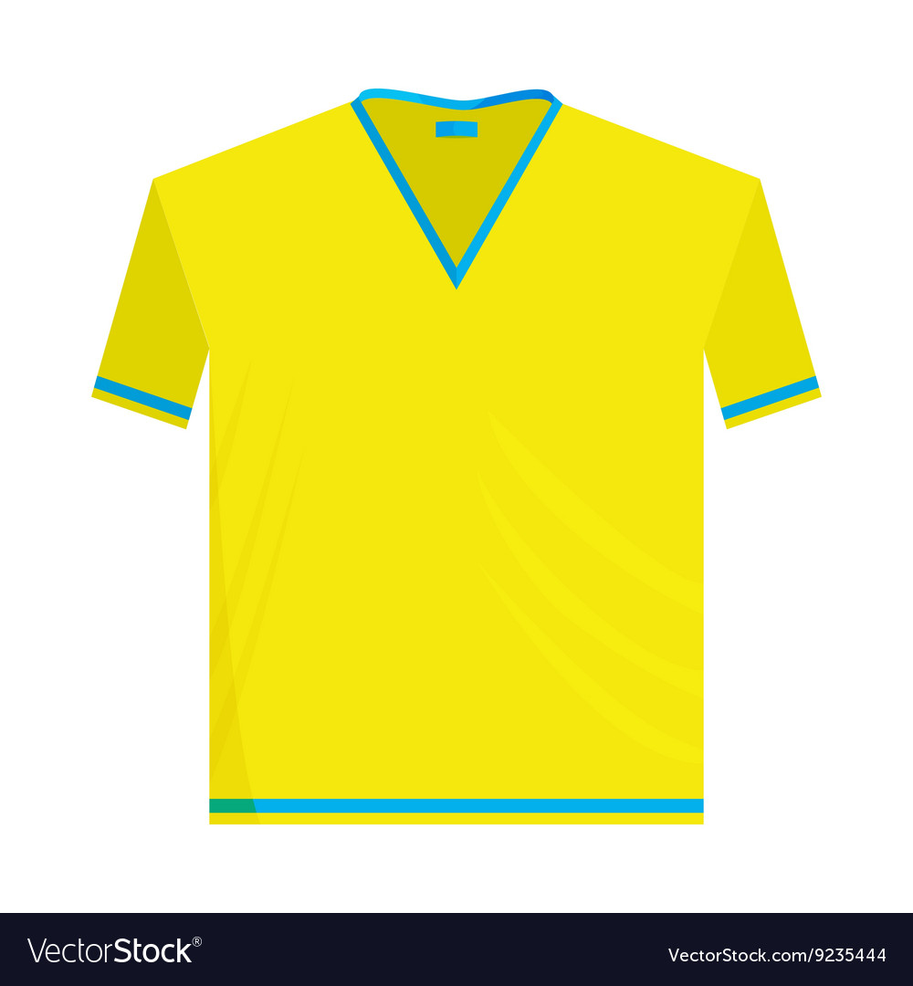 Yellow sports shirt icon cartoon style vector