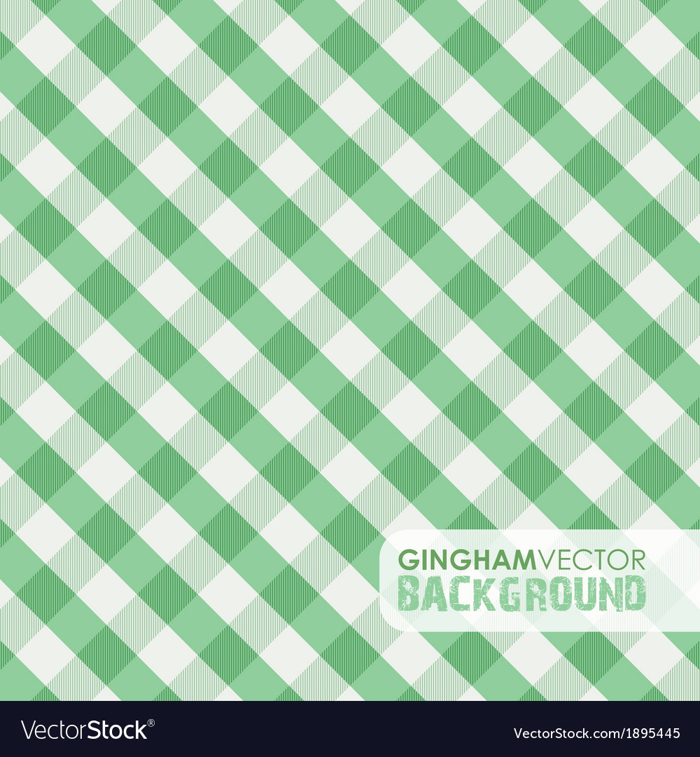 Gingham green vector
