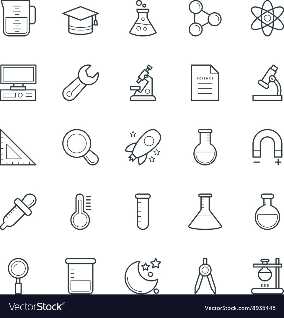 Science and technology cool icons 4 vector