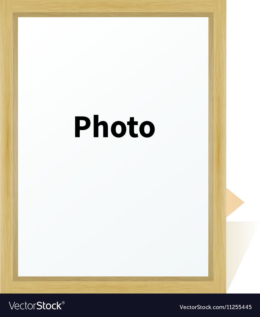 Standing wooden blank clean frame photo on a stand vector