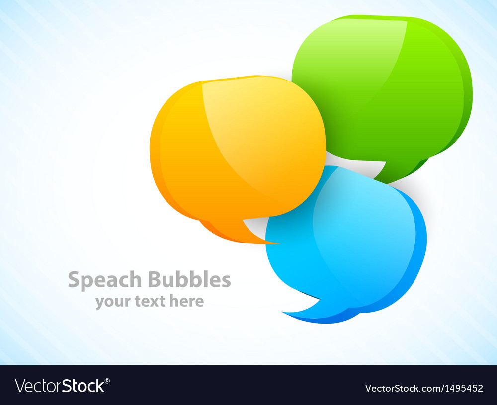 Three speech bubbles vector