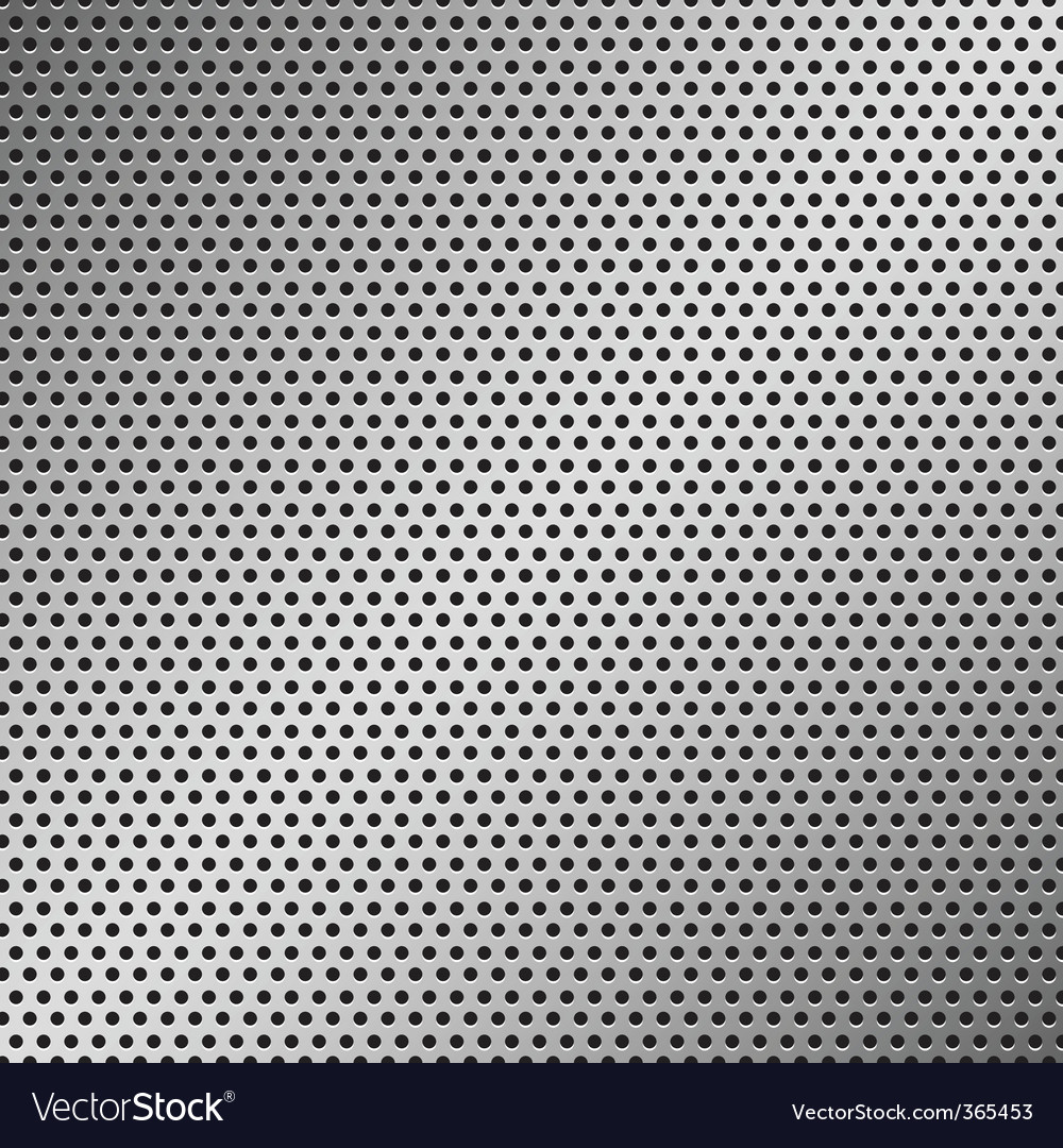 Perforated metal pattern vector