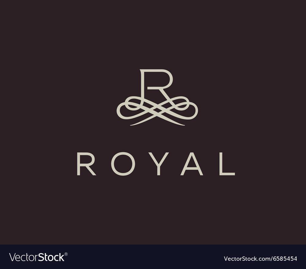 Abstract monogram elegant flower logo premium vector