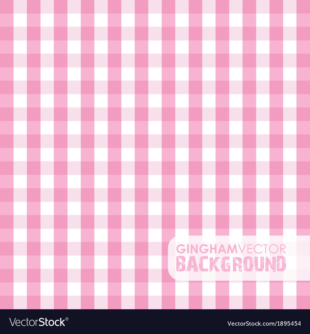 Gingham pink vector