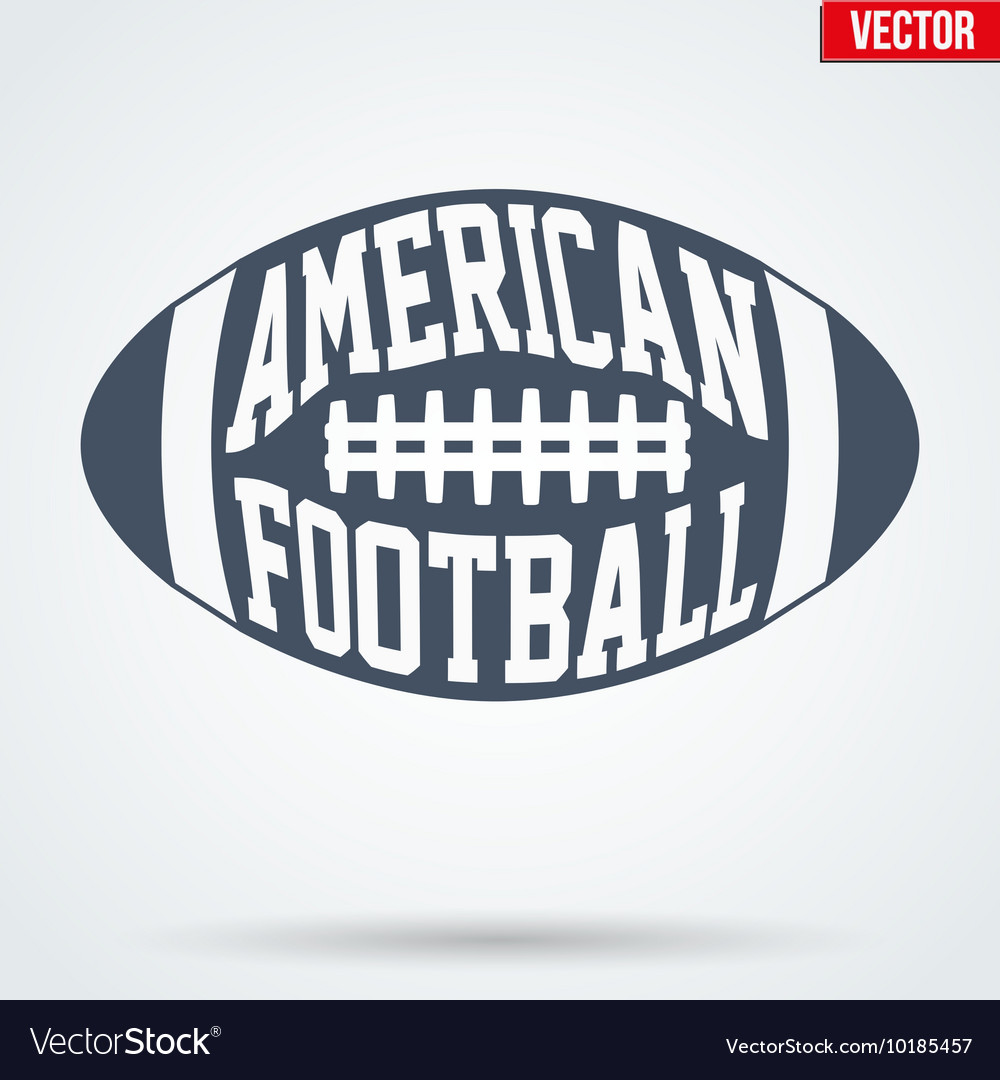 Sports symbol ball of american football with vector
