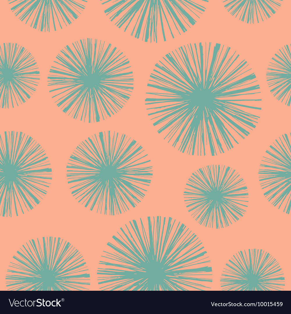Bright floral seamless pattern with hand drawn vector