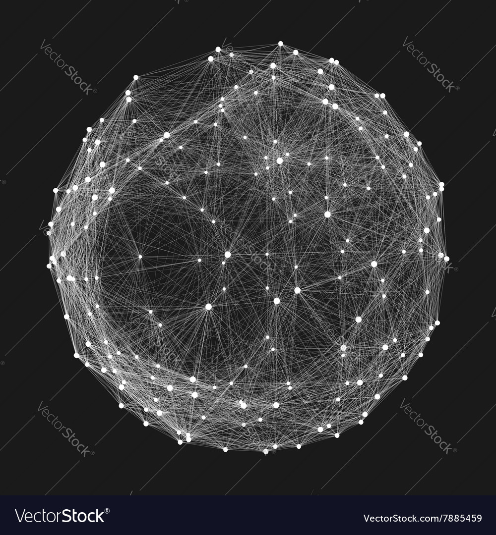 Connection structure wireframe vector