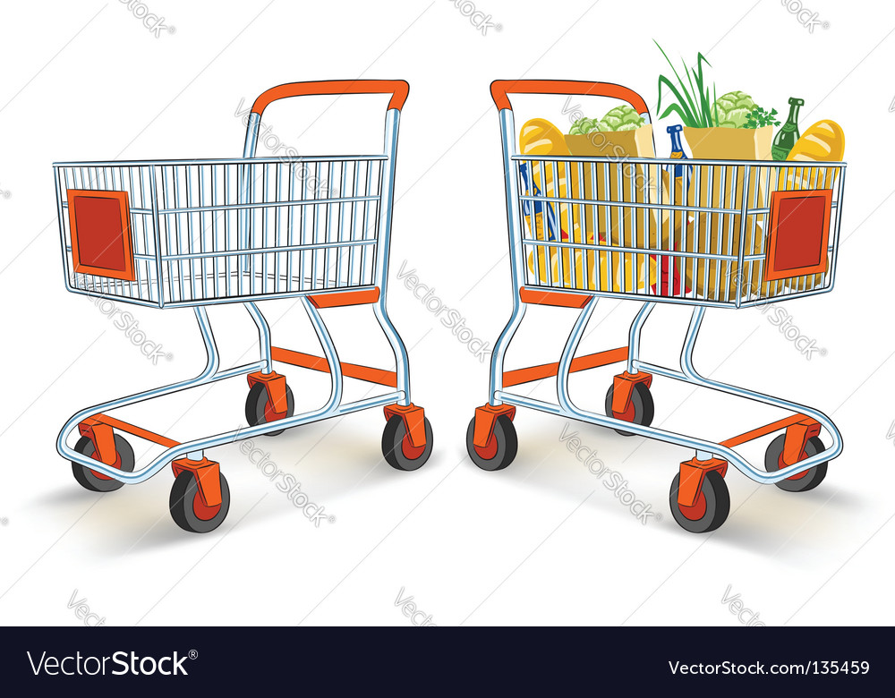 Shopping carts vector
