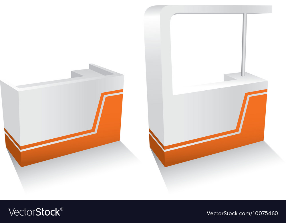 Kiosks set vector