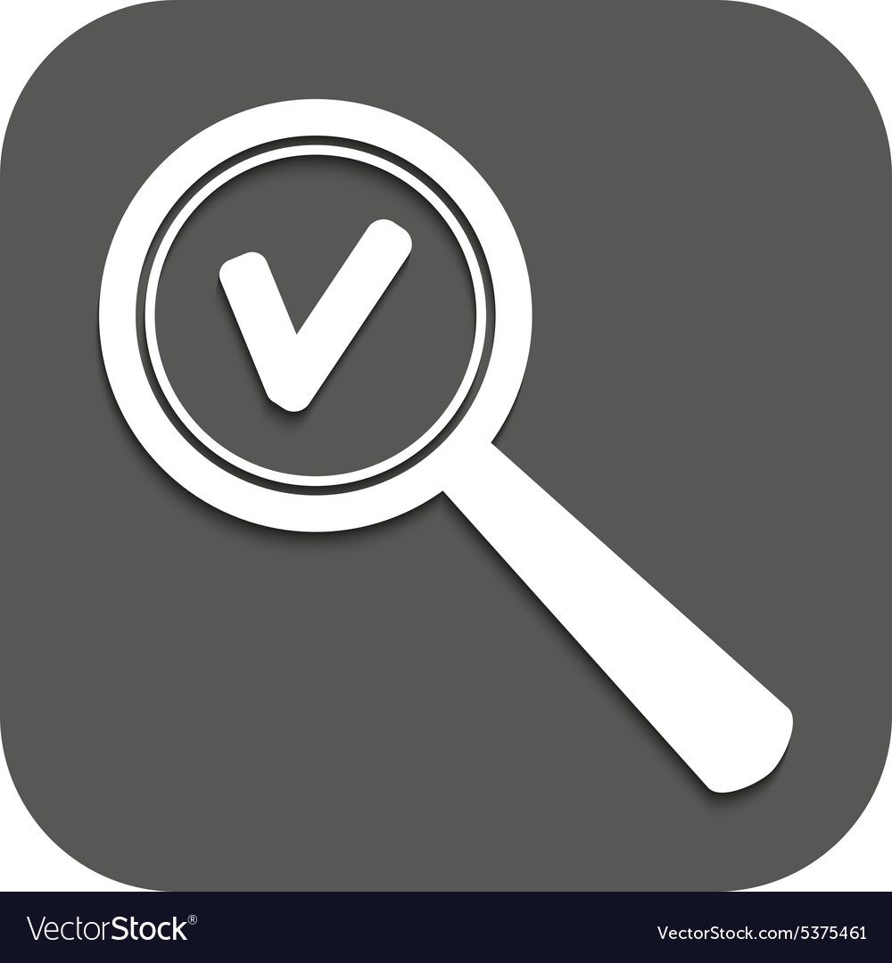 Magnifier glass search icons vector