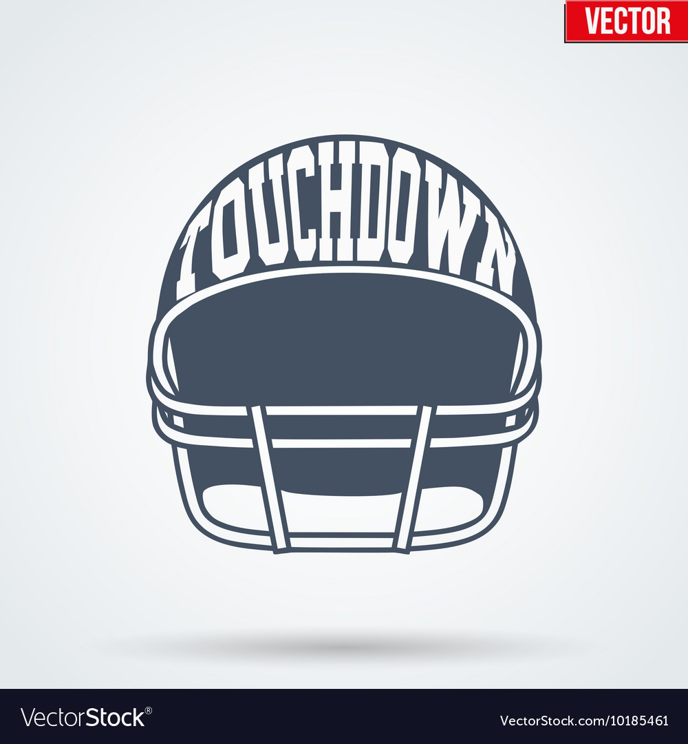 Sports symbol helmet of american football with vector