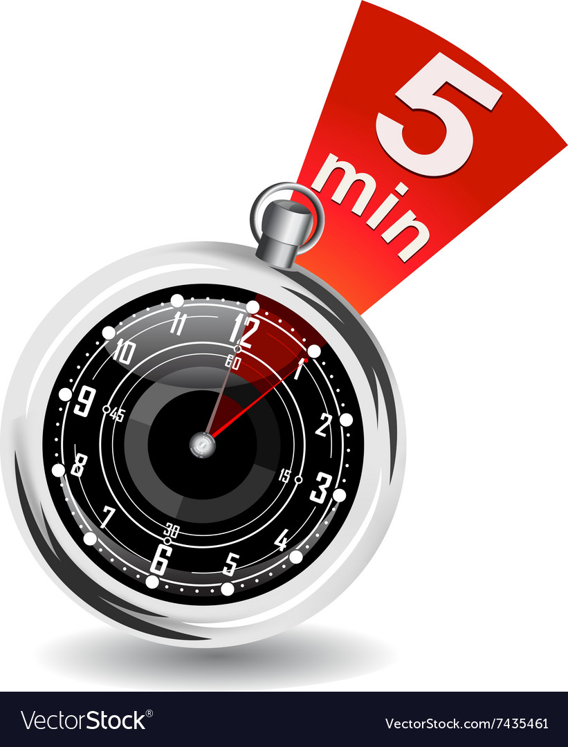 Stopwatch with bookmark vector