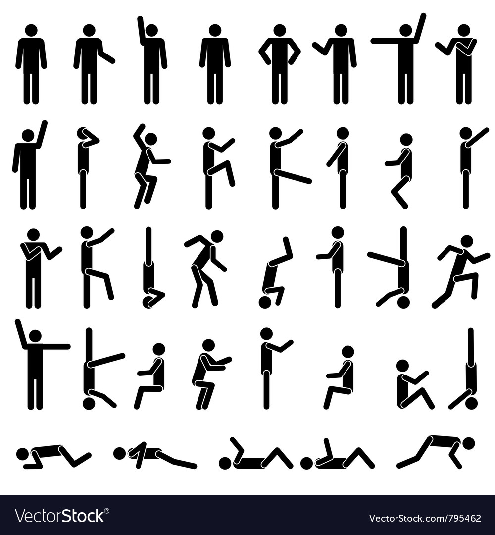 People in different poses vector