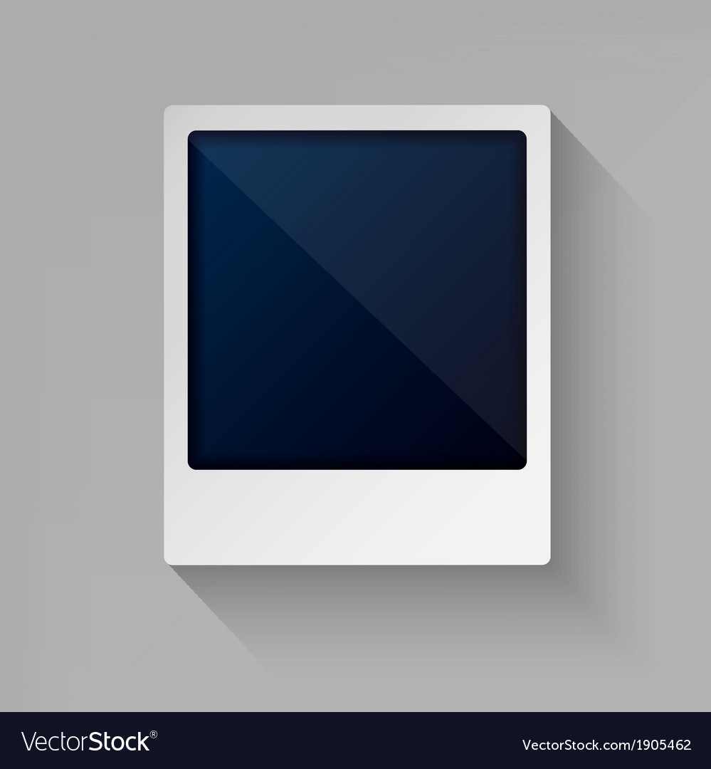 Photo frame in flat style vector