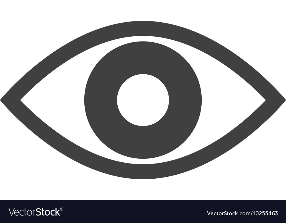 Eye look vision icon vector